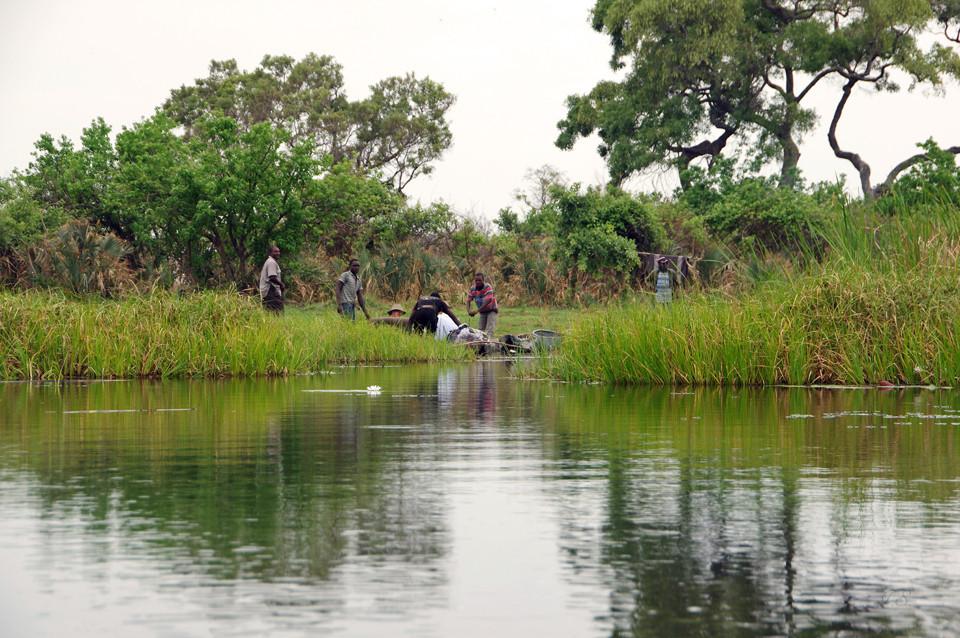 Okavangodelta, unterwegs mit Mokoros