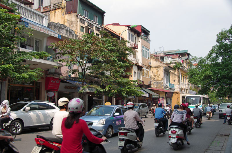 unterwegs in Hanoi