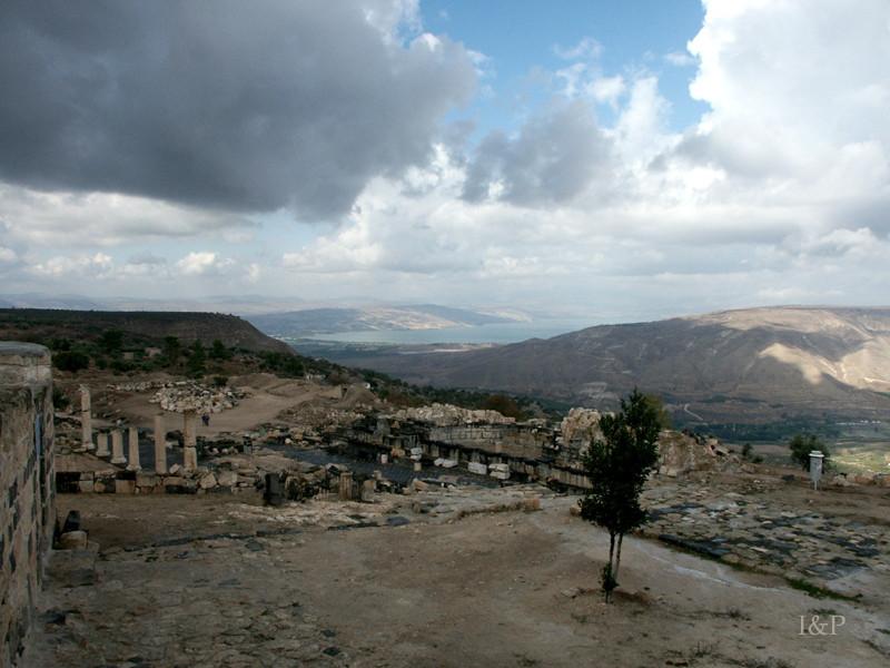 Gadara Umm Qais mit See Genezareth