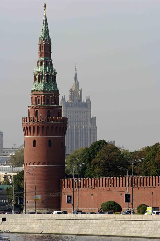 Moskau Kreml und Außenministerium
