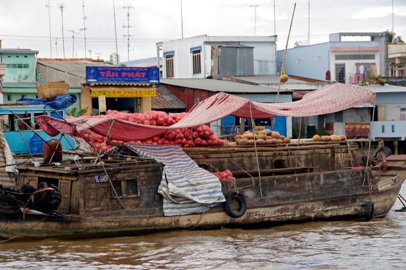 Cai Be, schwimmender Markt