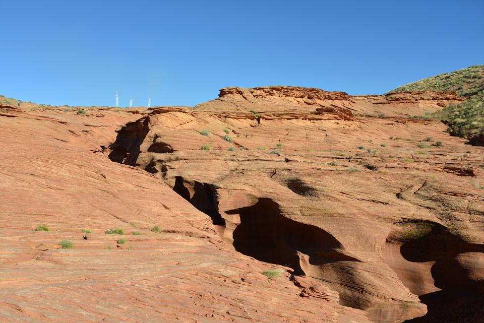 Antelope Canyon, von hier kaum zu erahnen...