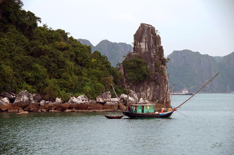 Halong Bucht, schwimmendes Dorf