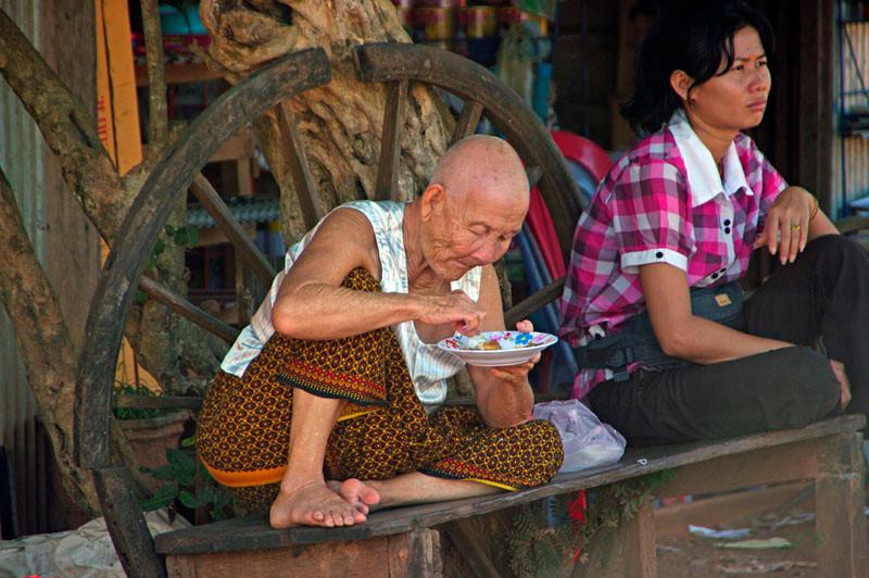 Phnom Penh - Siem Reap, Markt der Genüsse