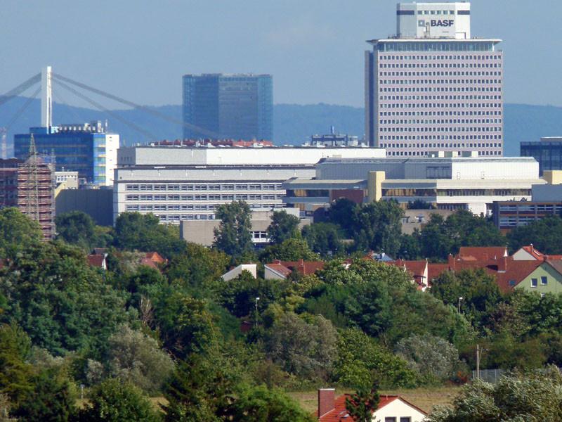Blick zur BASF