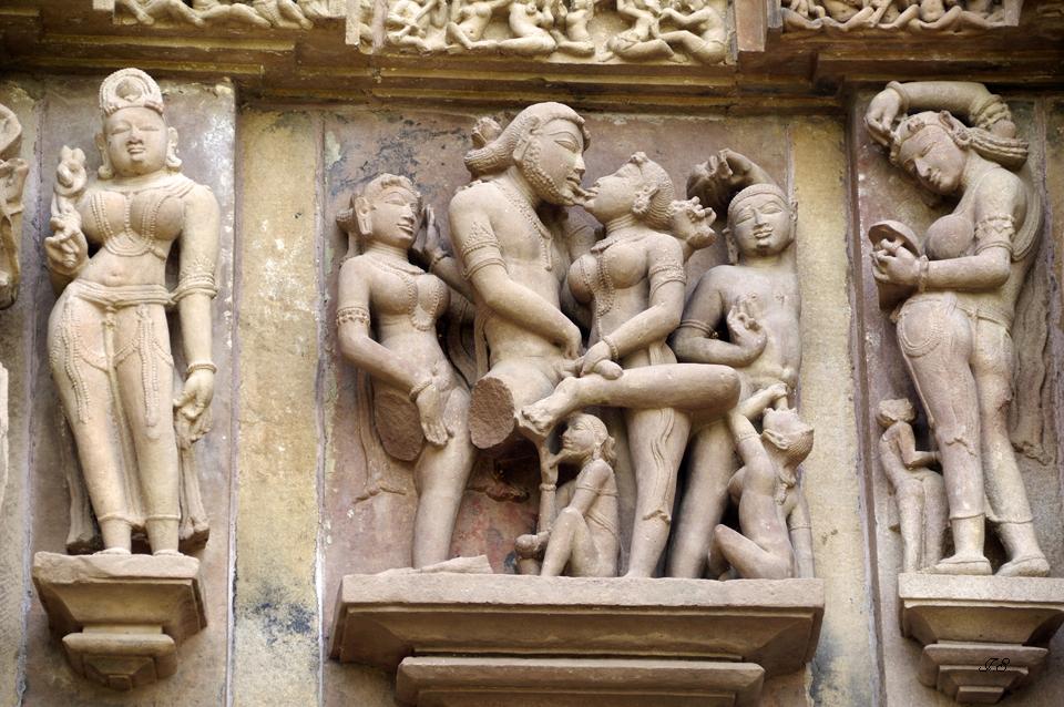 """""""Tempel von Khajuraho""""westliche Tempelgruppe"""