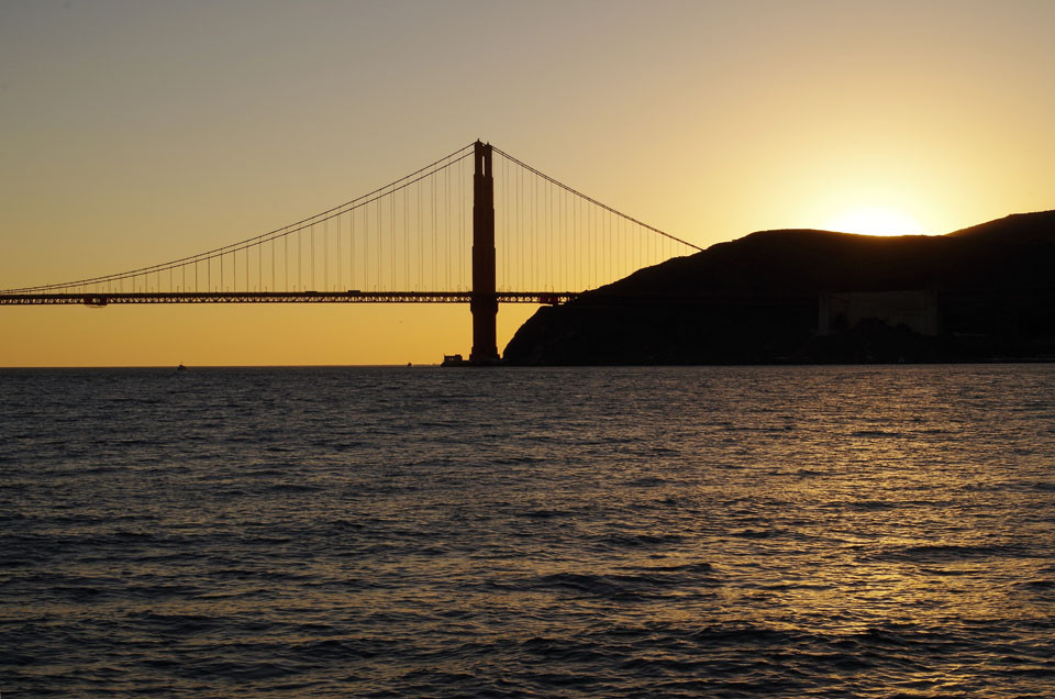 San Francisco Bay, Sonnenuntergang