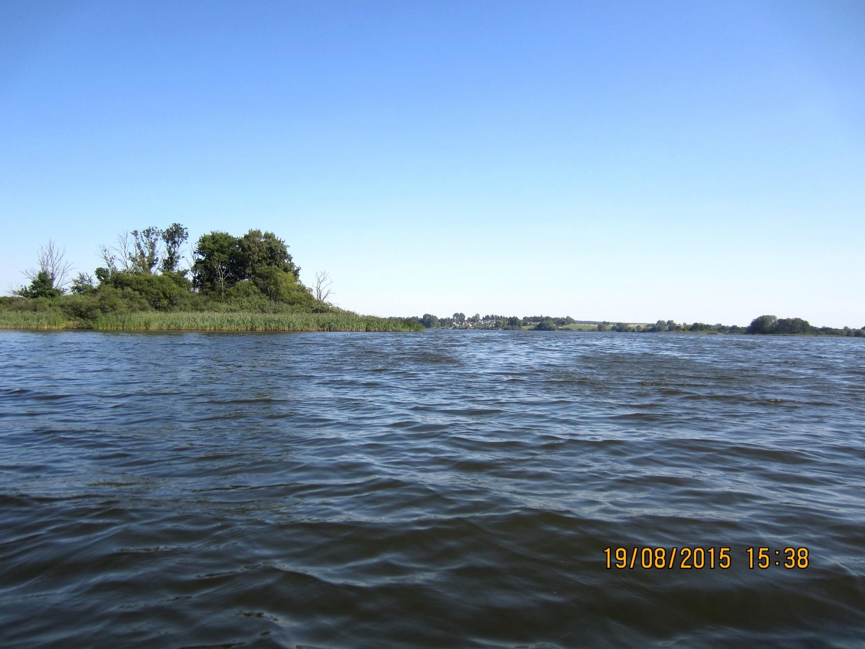 mit dem Boot auf dem Wahrensee unterwegs