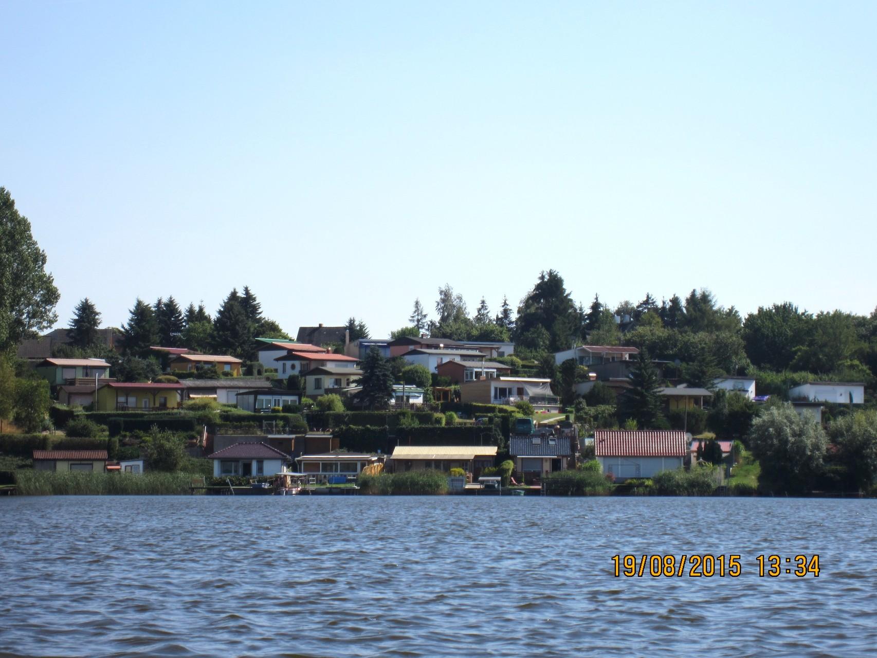 Blick auf die Bungalowsiedlung