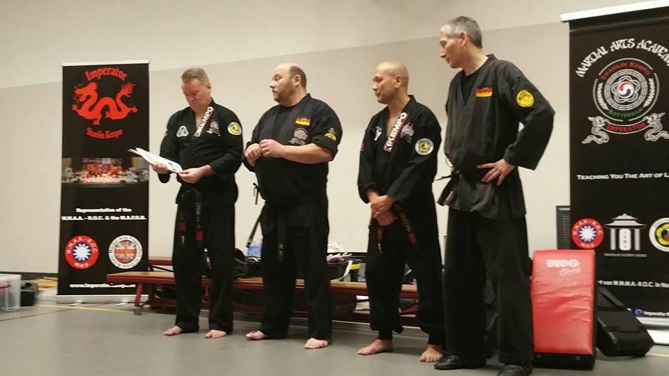 Shaolin Kempo meets Chan Shaolin Si en Dju Ssu. Rotterdam 18 maart 2017.