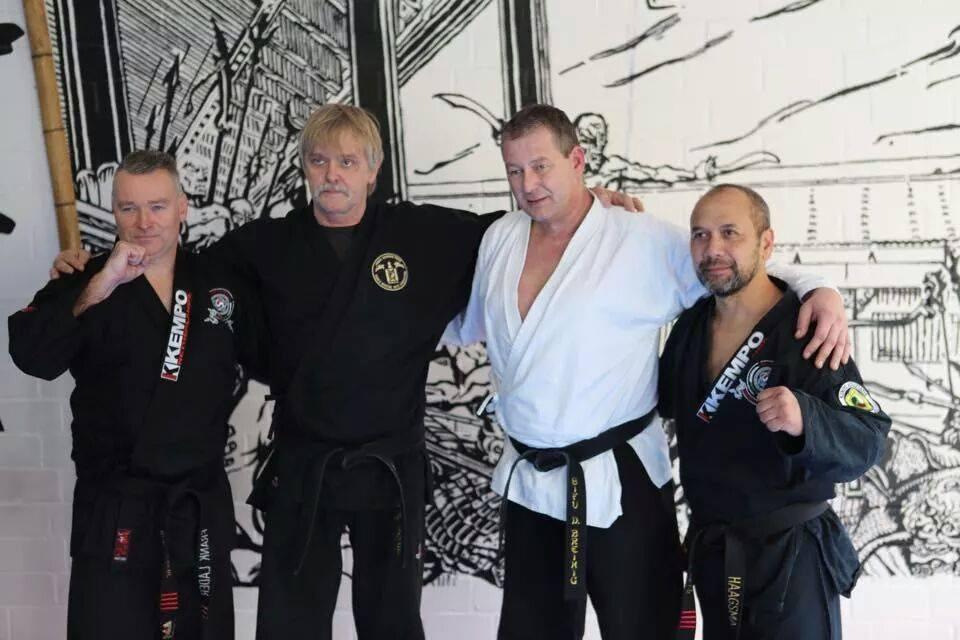 Frank Lader, Frank Jost, Dirk Breinig en Derby Haagsma
