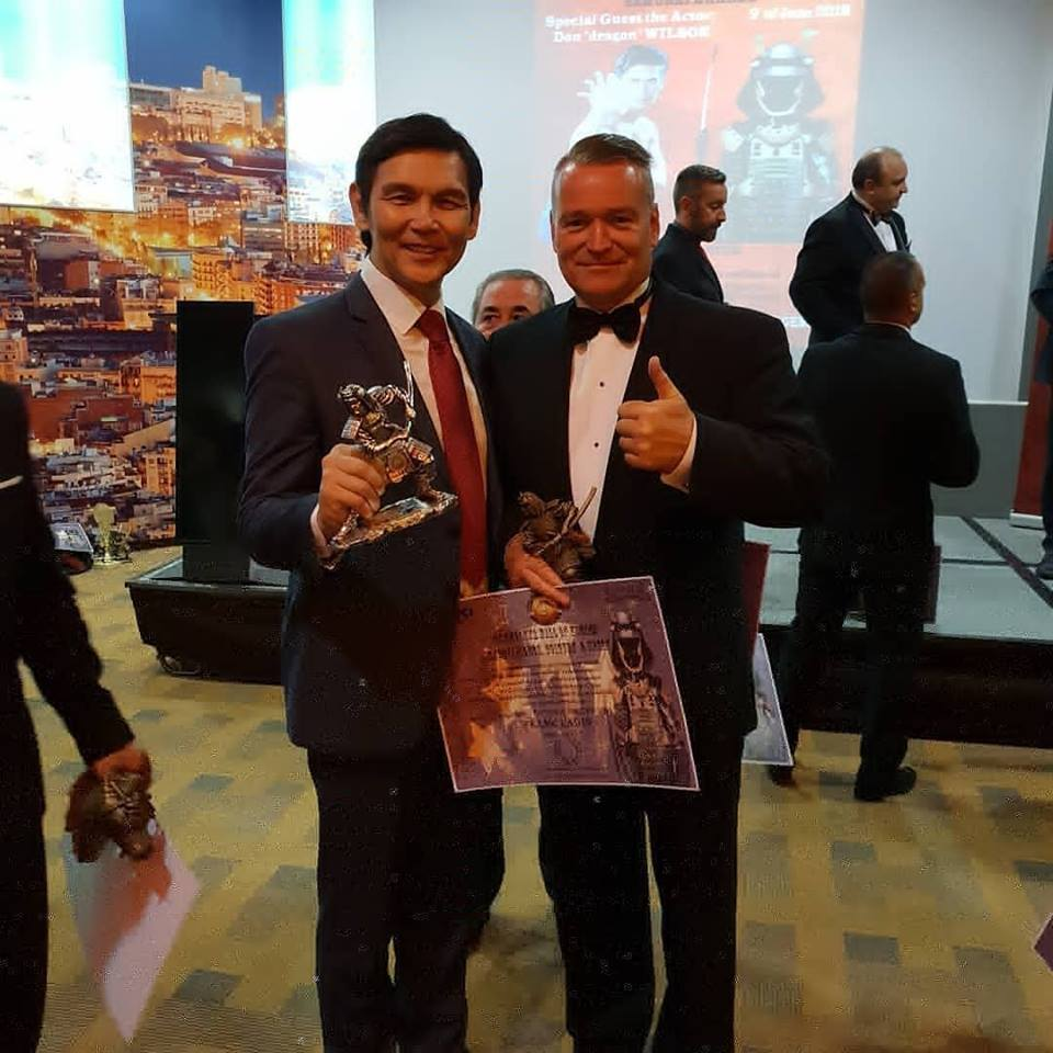 Barcelona hall of Honours, 9 juni 2018. Met martial arts acteur Don ' The Dragon' Wilson.
