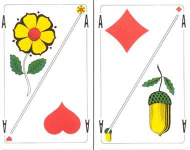 Auf Bernerseite wird meist mit französischen Jasskarten gespielt, auf der Luzerner Seite mit deutschschweizerischen.