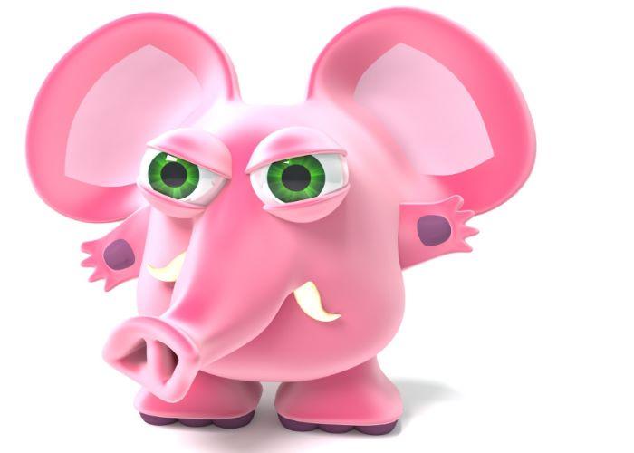 Der innere Schweinehund ist ein rosa Elefant