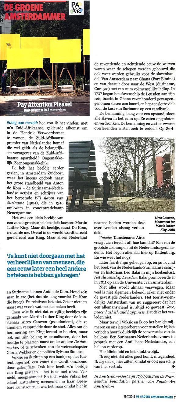 De Groene Amsterdammer, July 19, 2018