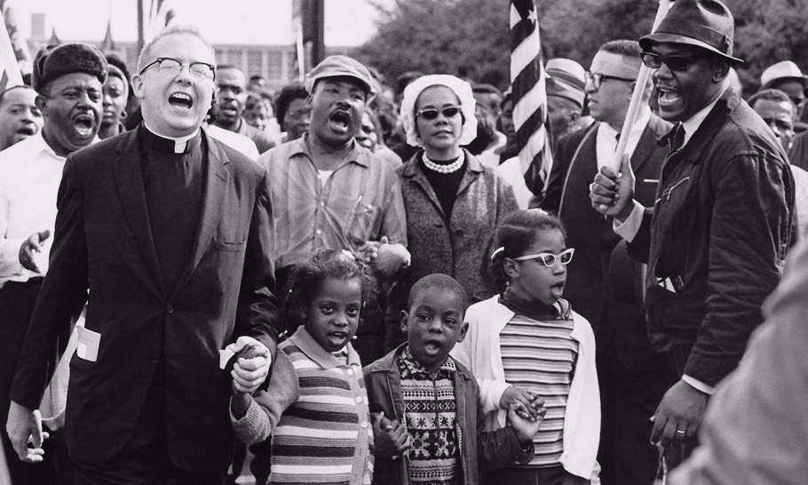Martin and Coretta King, walking the Selma to Montgomery march for the right to vote. Photo: Abernathy Family