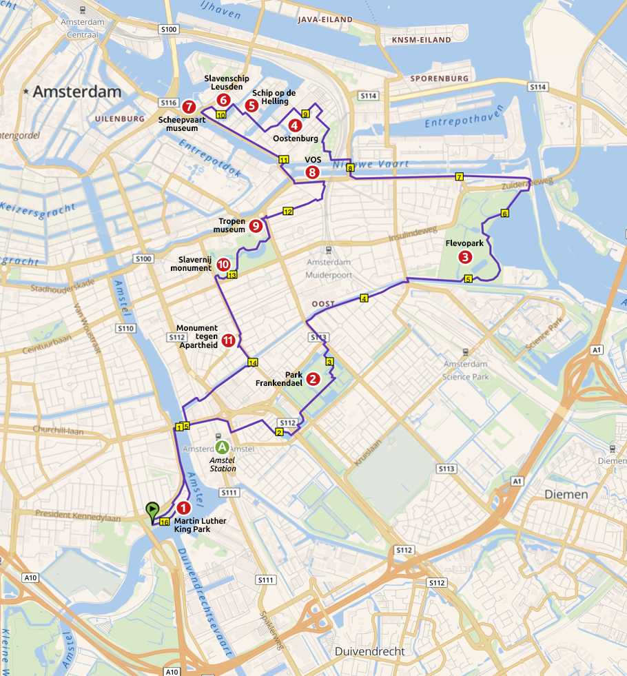 Runnermaps.nl, route 148255