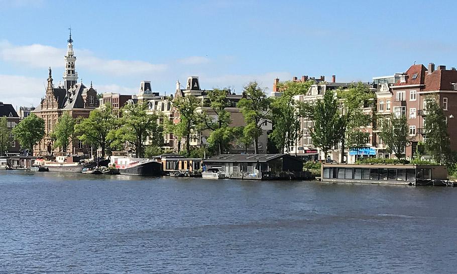 Amstel River, view on Amsteldijk