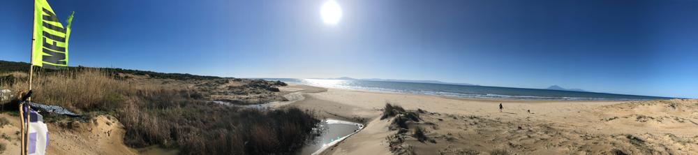 Kyllini Beach-Griechenland Februar 2018