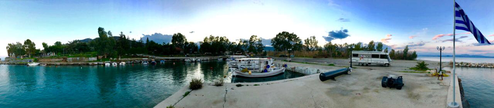 Samstag Abend Stellplatz in Agios Andreas