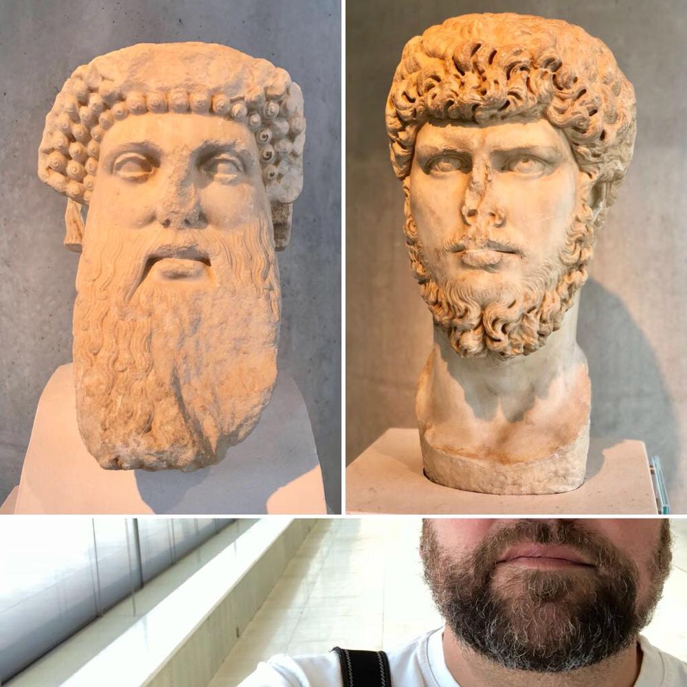 Mann trägt Bart