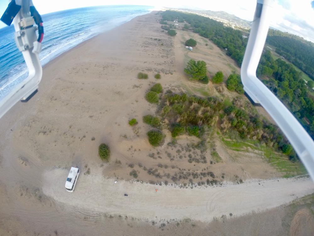 Unser Strand von oben