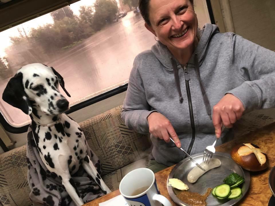 Weißwurstfrühstück bei Megasauwetter