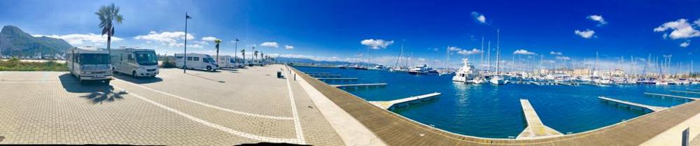 Yachthafenstellplatz