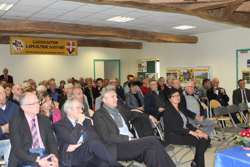 M. Luc Berthoud (maire de La Motte-Servolex), M. Michel Dantin (député européen) et M. Dominique Dord (député)