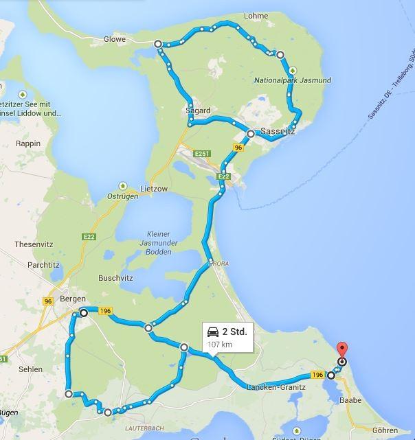 107 km Strecke