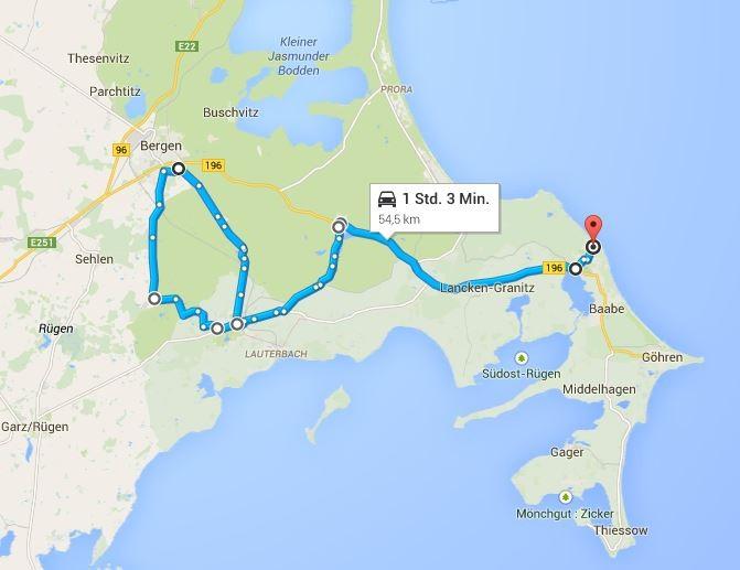 54 km Strecke