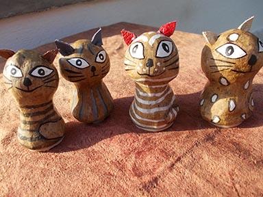 verschiedene Katzenstempel