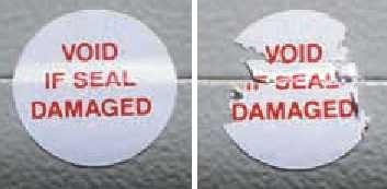Etiqueta destructible de seguridad en polietileno