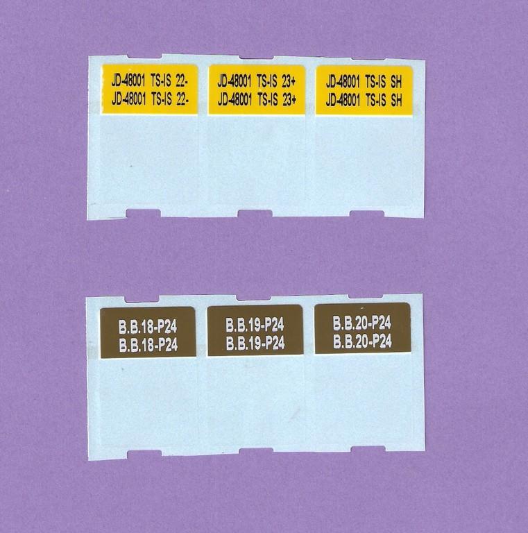 Etiquetas autolaminantes con colores para cables