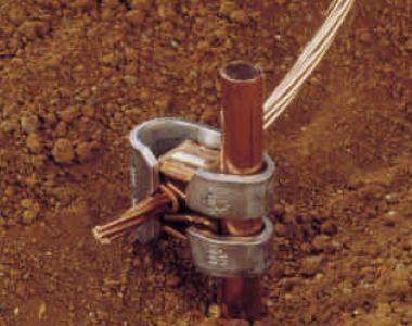 Conectores para tierras TGC de AMP-sustituyen la soldadura exotérmica