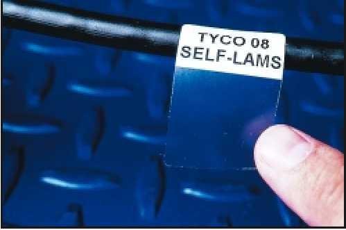 Etiqueta autolaminante en vinilo o poliester para cable UTP