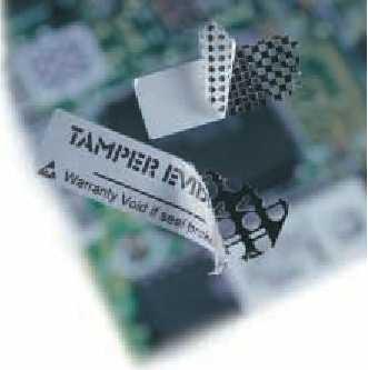Etiqueta de seguridad con traza o Metal Void