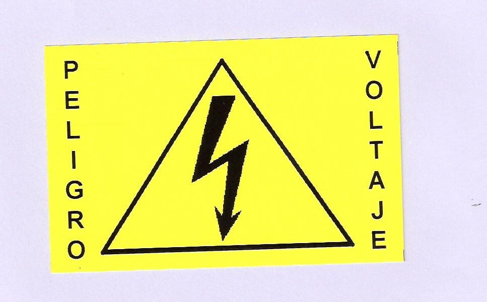 Etiqueta en poliester amarillo de 77 x 100 mm, autoadhesiva