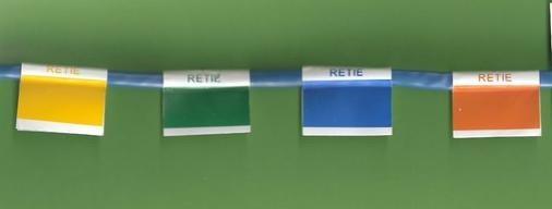 Etiquetas con colores del RETIE