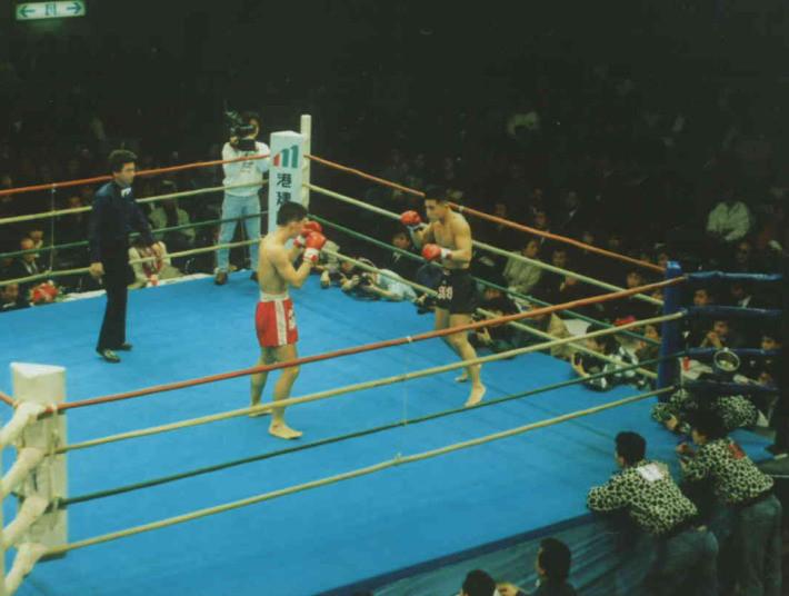 他のキックボクシングの団体にて、プロ2戦目。