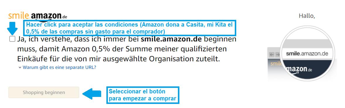 Stimmen Sie den Nutzungsbedingungen zu (Amazon teilt 0.5% der Summe qualifizierter Einkäufe ohne zusätzliche Kosten für Casita mi Kita)