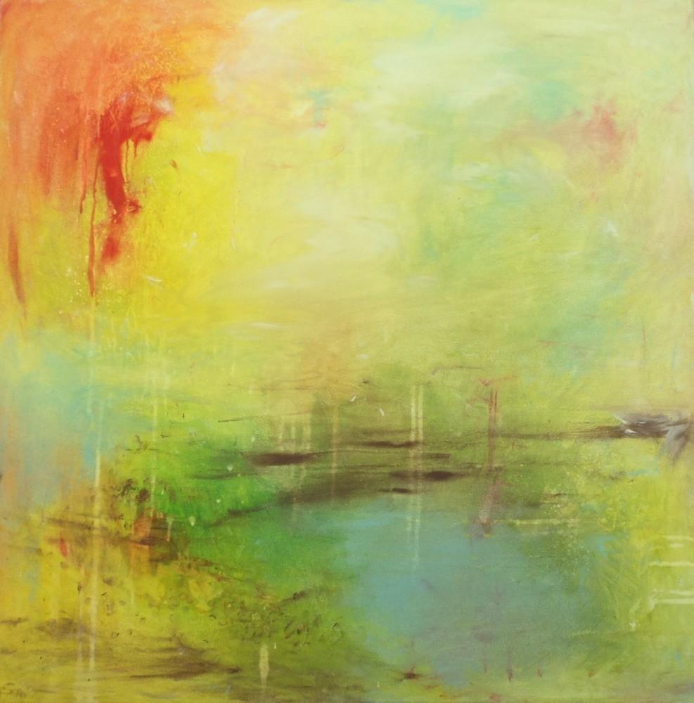 inner landscape. 80x80cm. Acryl auf LW. als Artprint erhältlich