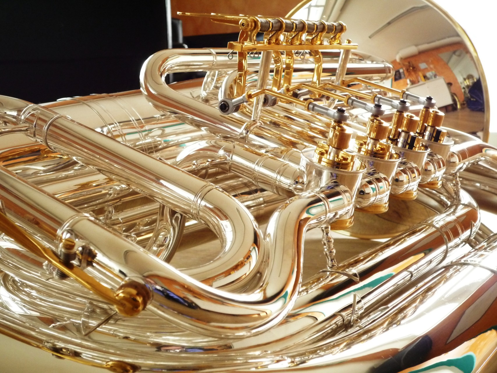 Melton B-Tuba - versilbert/vergoldet/ Sondergravur