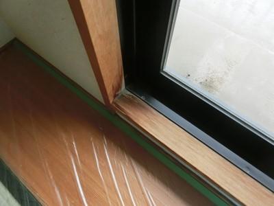 白木 漂白 和室 窓枠