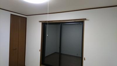 空室クリーニング カーテンレール