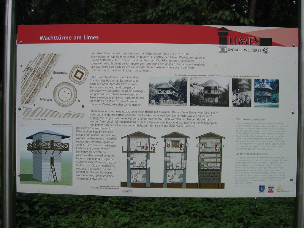 Informationstafel  bei  WP 4/33 (Butzbach)