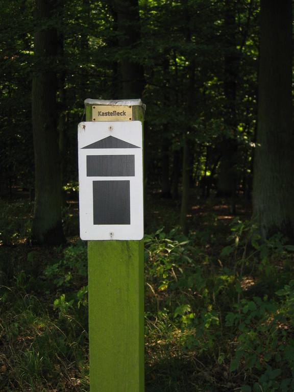 Eckmarkierung vom Kleinkastell Feldheimer Wald