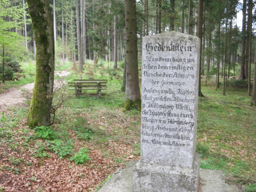 Gedenkstein aus dem 19. Jh. bei Erkertshofen