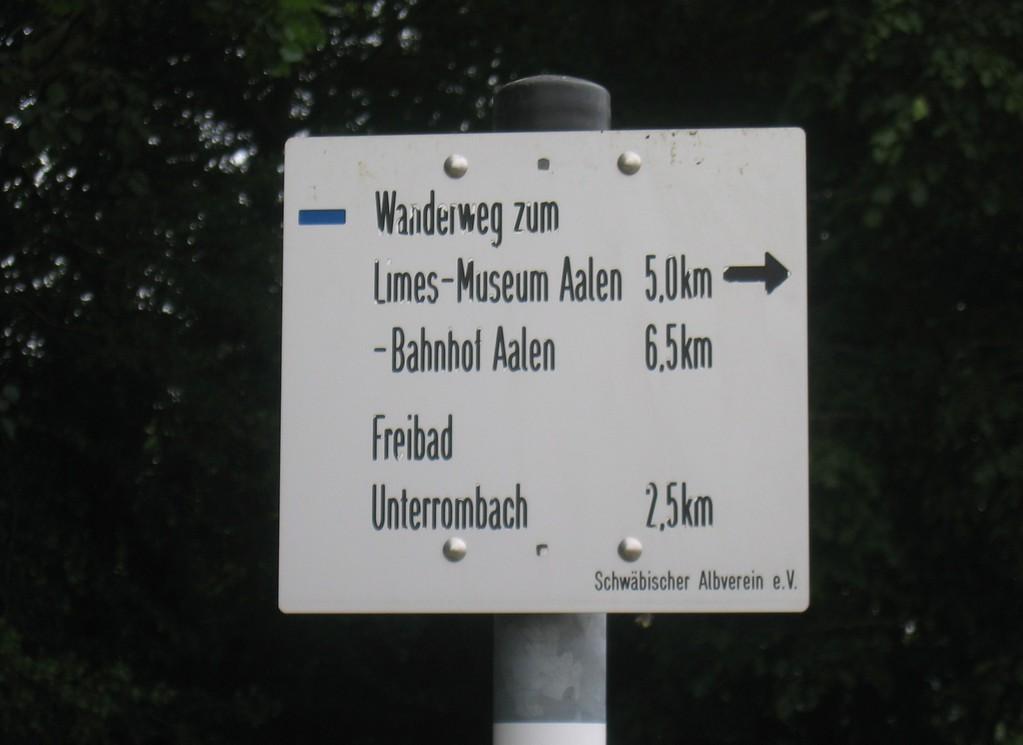 5 km zum Kastell Aalen (das Römermuseum ist sehr sehenswert)