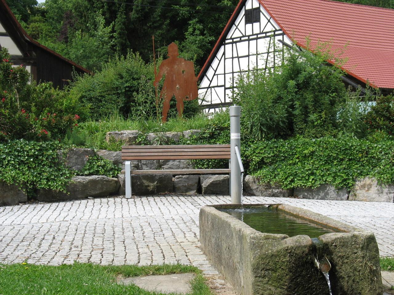 Dorfplatz in Pfahlbach